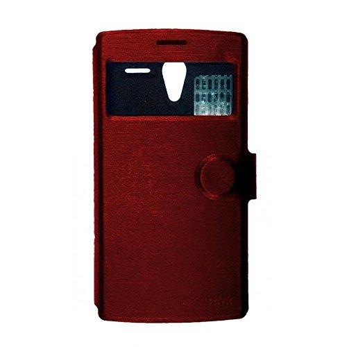 Primux PTCOVALP4RP funda para teléfono móvil Libro Rojo - Fundas para teléfonos móviles (Libro, Primux, Alpha 4/Zeta 2, Rojo)