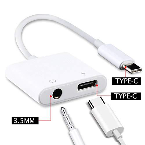 Der BANFAO 2-in-1-USB-Typ-C-Konverteradapter unterstützt Audio und ist wiederaufladbar. Er eignet Sich für Huawei P30 Pro, P20, P20 Pro, Mate 30 Pro, OnePlus 7 Pro, Xiaomi Mi 9, Mi 8, Mix 2S usw.