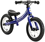 BIKESTAR Running Balance Bike with sidestand and brake for Kids age 3 year old | 12 Inch Sport Edition | Blue