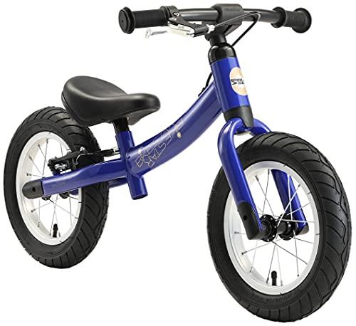 BIKESTAR Kinder Laufrad Lauflernrad Kinderrad für Jungen und Mädchen ab 3 - 4 Jahre | 12 Zoll Sport Kinderlaufrad | Blau | Risikofrei Testen