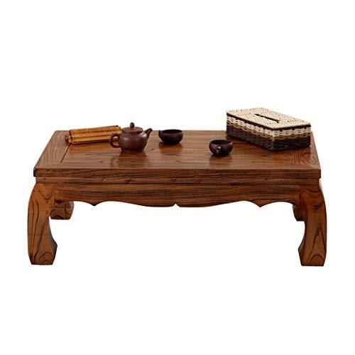 Tables basses Meubles Petite Table rectangulaire Table à thé en Bois Massif lit Table d'ordinateur Portable for Chambre Salon de Jardin Tables (Color : Wood, Size : 70 * 70 * 30cm)
