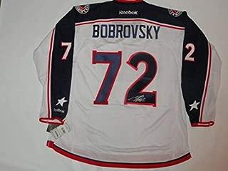 Sergei Bobrovsky Autographed Signed Reebok Premier Columbus Blue Jackets Road Jersey JSA
