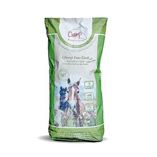 Champ Low Carb + Clino Plus für Pferde, getreidefrei, 20 kg