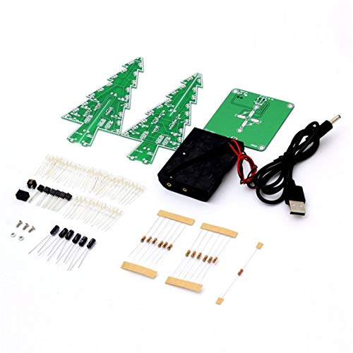 MOHAN88 Decoración Piezas de Circuito de Flash LED electrónico Árbol de Navidad 3D Árbol LED Kit de Bricolaje Materiales ecológicos - Mezcla