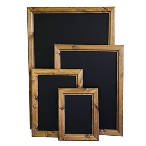 Chalkboards UK WC352 Premium-Tafel, gerahmt, A2, Holz, Schwarz, 515 x 695 mm