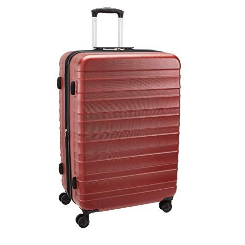 AmazonBasics - Maleta de alta calidad, rígida y sólida, 78 cm - Rojo