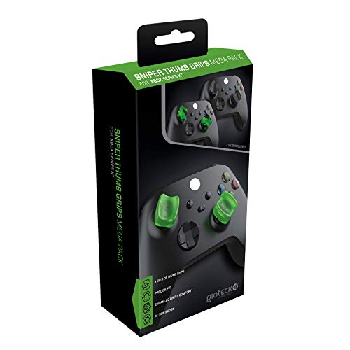 Gioteck - SMP XBX - Thumb Grips Megapack para Xbox series X S, Protección para Joysticks, Antideslizante, Precisión Grips para Xbox X (Paquete de 3) 3 Colores