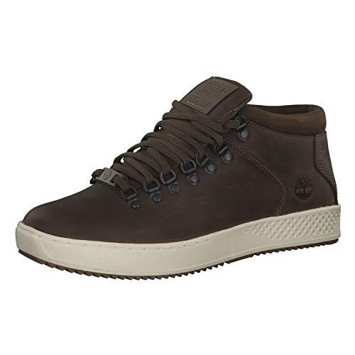 Scarpe uomo Sneakers a Collo Alto TIMBERLAND in Pelle Marrone TB0A1S6A-MORO