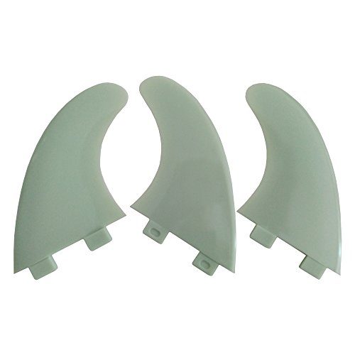 UPSURF Aletas de Tabla de Surf Plástico Surf Tablero Aletas Estilo Thruster Set (FCS White M5)