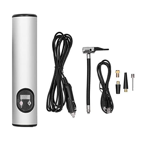 KIMISS Inflador de neumáticos inalámbrico, Inflador de neumáticos portátil con luz LED 12V Carga USB Digital 150PSI Herramienta de inflado Universal