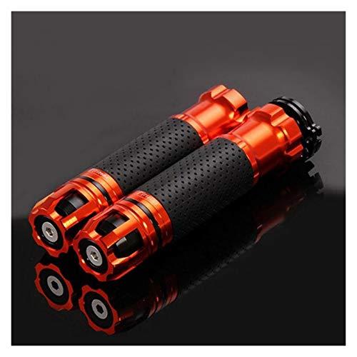 Puños Moto Empuñaduras De Motocicleta 7/8 22mm Empuñadura De Acelerador De Bicicleta De Tierra De Goma para Suzuki GS 500 Gsxs 1000 Bandit 1200 Bandit 400 Handleba Puños Pro Taper (Color : Naranja)