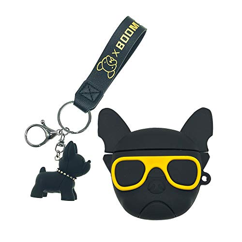 ztowoto Compatibile con Airpods 1/2 Custodia in Silicone Kit Divertente 3D Simpatico Cartone Animato Bulldog AirPods Cover per Bambini Ragazze Donne Ragazzi (AirPods1/2, Bulldog)
