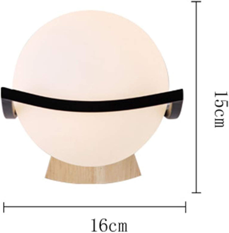 HUAMU-WALL LAMP LED-Standard-Holz-Runde Wandleuchte, 220V Spannung, 40W Leistung, Kompatibel Mit Wohnzimmer Schlafzimmer   Arbeitszimmer,Weiß5w