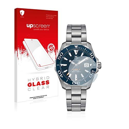 upscreen Protector Pantalla Cristal Templado Compatible con Tag Heuer Carrera (43 mm) Hybrid Glass - 9H Dureza