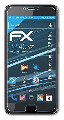 atFolix Schutzfolie kompatibel mit Acer Liquid Z6 Plus Folie, ultraklare FX Bildschirmschutzfolie (3X)