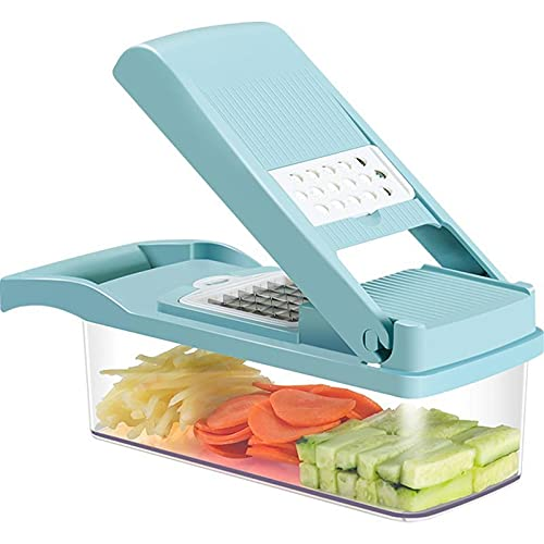 N / B Vegetable Chopper, with Food Container and Cleaning Brush, Food Chopper, Suitable for Garlic, Cabbage, Carrot, Potato, Tomato, Fruit, Salad