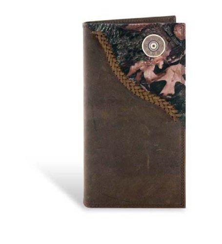 Shotgun Shell - Leather Fence Row Camo Long Roper Wallet