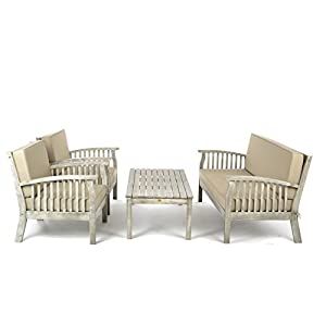 Go Garden Outdoor Wooden Table and Chairs Set