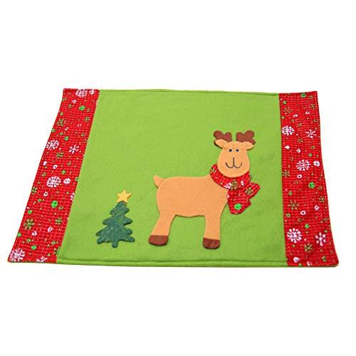DaoRier Nappe De Noël Nappe de Cadeau de Flocon de Neige Elk Christmas Tree rectangulaire carrée Nappe en Non tissé Flocon Nappe