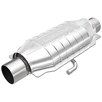 MagnaFlow Universal Catalytic Converter California Grade CARB Compliant 334016 - Stainless Steel 2.5in Inlet/Outlet Diameter 16in Overall Length No O2 Sensor - CA Legal Replacement