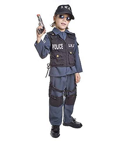 Dress Up America Enfants Deluxe S.W.A.T. Costume d'officier , 3-4 ans (Taille 26-28 Pouces , Hauteur 36-39 Pouces) , Comme la Présentation , XX-Small