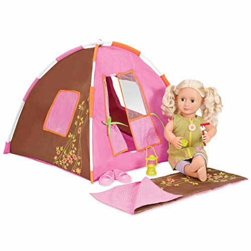 Our Generation 70.37050 Dolls Polka Dot Camping Accessories Set, Multicolored