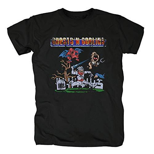 TSP Ghost N Goblins Arcade Gamer Camiseta para Hombre M Negro