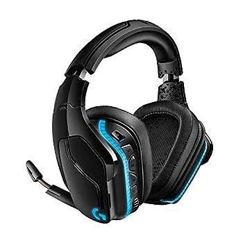 Logitech G935 Wireless DTS X 7.1 Surround Sound LIGHTSYNC RGB PC Gaming Headset - Black blue  Renewed
