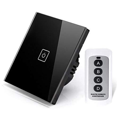 Cobeky Interruptor de control remoto inteligente WiFi, 1 vía 86 tipo panel de contacto de pared panel de contacto luz interruptor de pantalla de contacto