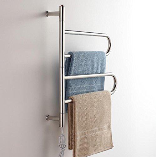 FANGYAO Giratorio montado en la pared de acero inoxidable eléctrico toallero/radiador Baño/Calentador...