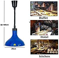 OESFL ホテル/カフェテリア/パーティー食品断熱材に使用される食品ウォーマーランプ絶縁機器食品ランプ保持ビュッフェ/パーティライト食品ウォーマー/ヒーター (Color : Blue)