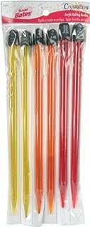 Susan Bates 10-Inch Crystallites Acrylic Knitting Needle Set8mm/9mm/10mm