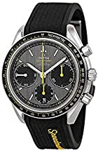 Omega Speedmaster Racing Grey Dial Black Rubber Mens Watch 32632405006001