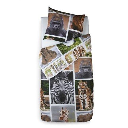 Snoozing Wildlife beddengoed   140x200/220 cm   1x kussensloop 60x70 cm   100% katoen