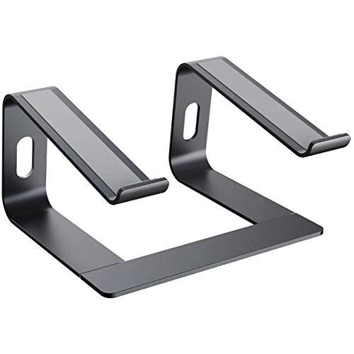 Morninganswer 1 soporte elevado de aleación de aluminio para ordenador portátil con base de metal y refrigeración