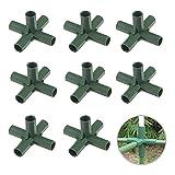 TSLBW 10 Piezas Conector de plástico para Marco de Invernadero para Soporte Estable de jardín Conector de construcción de Marco de Invernadero de Servicio Pesado Conectores de Muebles 16 mm 5-vías