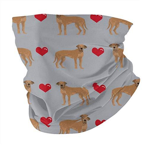 ZHANGPEIENfaqi Great Dane Tan Love Hearts Dog Grey Variedad Cabeza Bufanda Moda Mascarilla Cara Cara Cara Bandana A Prueba De Sol Moda Toalla Cara Para Hombres Y Mujeres