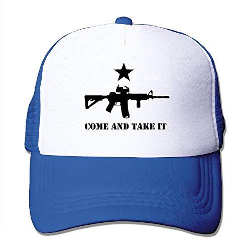 CHKWYN AR-15 Come and Take It Unisex Mesh Adjustable Plain Baseball Cap Trucker Hat