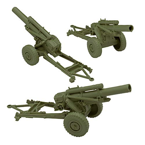 BMC Classic Marx US HOWITZERS - OD Green 3pc Plastic Army Men Field Artillery