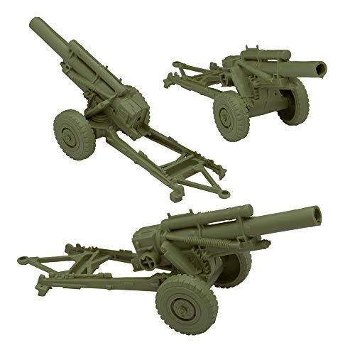 BMC Classic Marx US HOWITZERS - OD Green 3pc Plastic Army Men Field Artillery