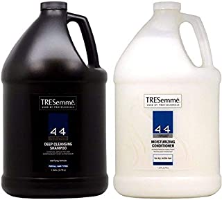Tresemme 4+4 Deep Cleansing Shampoo Gal, Moisturizing Conditioner Gal. With Two Pumps Including