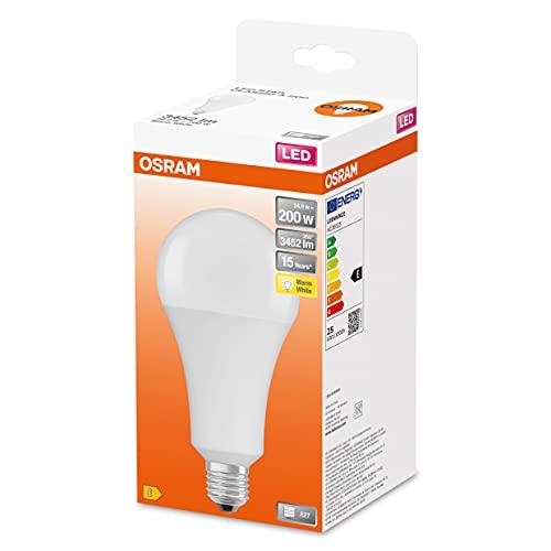 Osram Lampada LED, Attacco: E27, Warm White, 2700 K, 24,90 W, sostituzione per 200 W Incandescent bulb, opaco, LED STAR CLASSIC A ,Confezione da 1