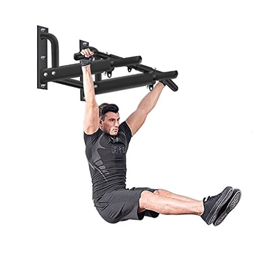 Horizontal Bars Dispositivo multifuncional pull-up cubierta domésticos de pared fijo paralelo pared de perforación barras de equipos de fitness 97 * 65 * 31cm Negro
