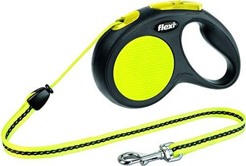 Flexi New Classic Reflectieband - Hondenriem - Neon Geel - M - 5 m - (<20 kg)