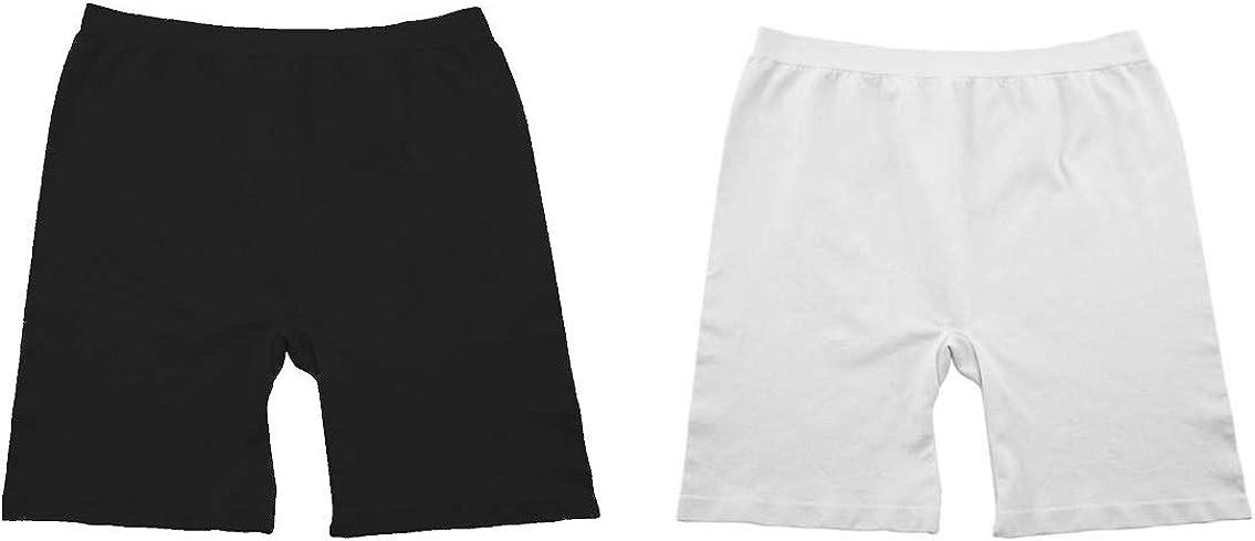 Wonder Girls Cotton Seamless Underskirt Panty Bike Shorts 2 Pack