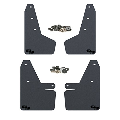 RokBlokz Mud Flaps for 2018 + Subaru Crosstrek - Multiple Colors Available - Mud Guards are Custom Cut and Fit - Includes All Mounting Hardware (Black with Black Logo)