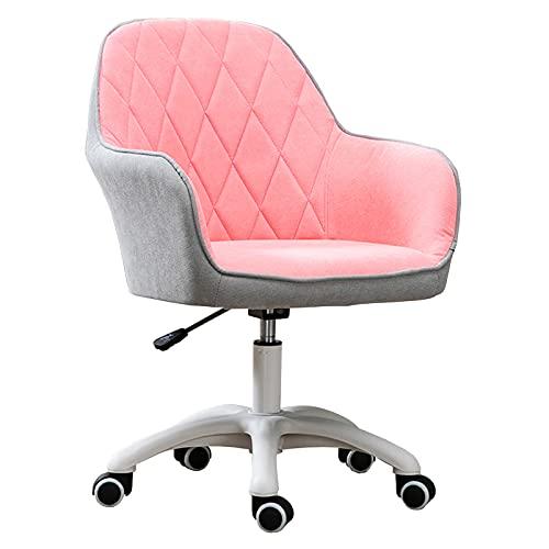 HYXI-Chair Sillón Giratorio con Respaldo Medio para Oficina en casa, diseño en Forma de bañera y Respaldo con patrón Forrado para Sala de Estar, Oficina en casa, 60 cm-70 cm