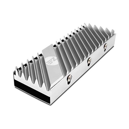 EZDIY-FAB M.2 2280 SSD Kühlkörper, doppelseitiger Kühlkörper, Hochleistungs-SSD-Kühler für PCIE NVME M.2 SSD oder SATA M.2 SSD-Silber