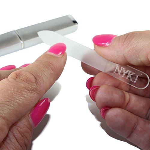 NYK1 Lima per unghie di vetro da borsa, realizzata nel dettaglio e...