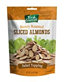 Fresh Gourmet Sliced Almonds | Honey Roasted Flavor | 3.5 Ounce | Crunchy Snack and Salad Topper